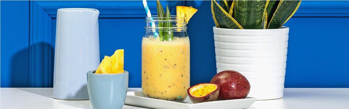 Ananas Passionsfrucht Smoothie mit Hafer Nilk