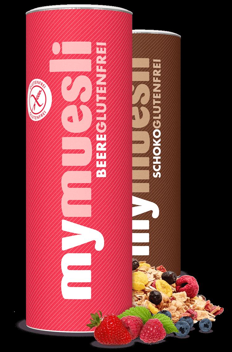 Unsere Glutenfreien Müslis gibt es in den Sorten Beeren und Schoko.