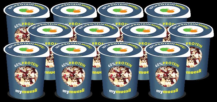 40 Prozent Protein Muesli 2go Becher