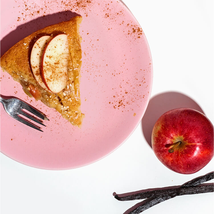 Leckerer Apfelkuchen mit Mandel Nilk