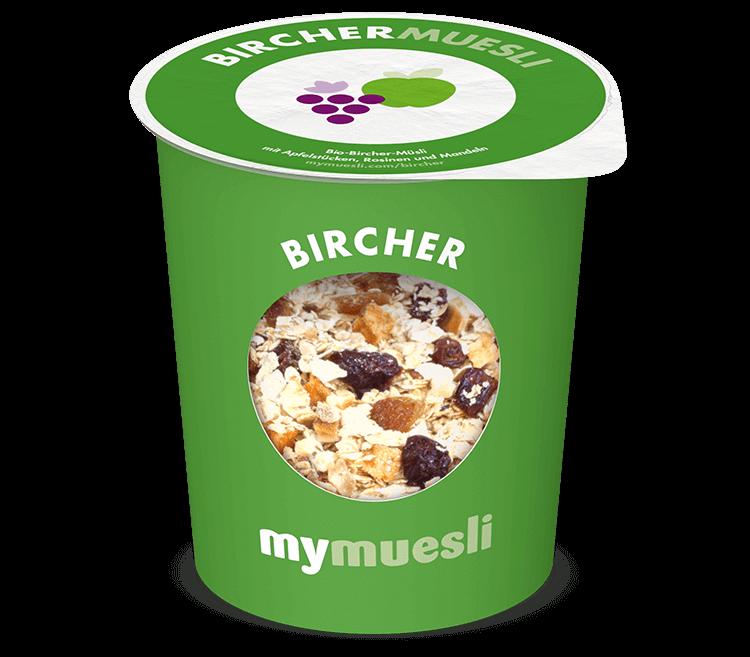 Bircher-Müsli zum Mitnehmen im praktischen to go Becher.