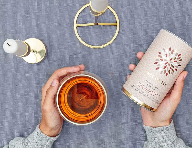 Unser Bio-Tee Golden Glory bringt dich in Wohlfühlstimmung.