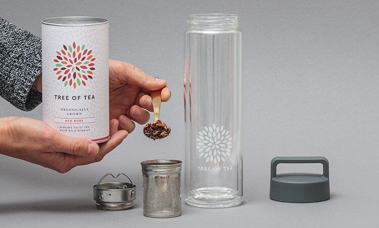 Tea2go mit unserer 2go Bottle in 2 tollen Farben