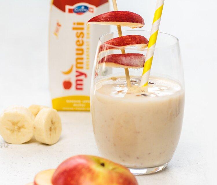 Dein Frühstücks-Drink aus vielen Früchten und Naturjogurt.