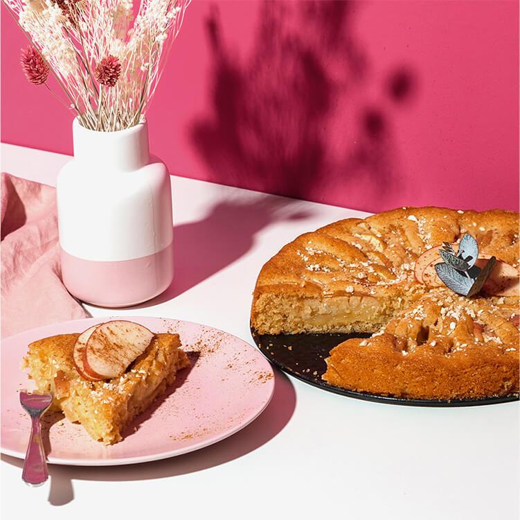 Apfelkuchen mit Mandel Nilk