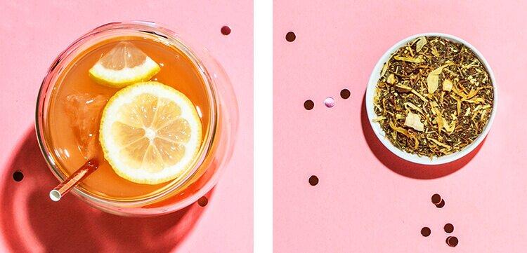 Limitiertes Set zum Tree of Tea Jubiläum mit unserer Thermo Bottle in Roségold und dem Roi Lemon Blatttee
