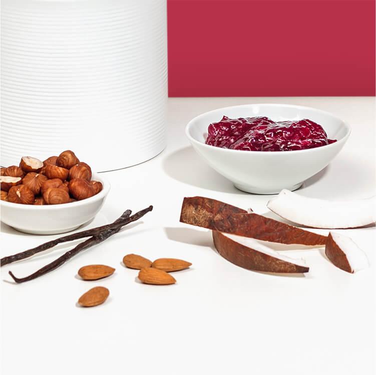 Mit Zutaten wie Kirschmarmelade, Schokolade und Vanille