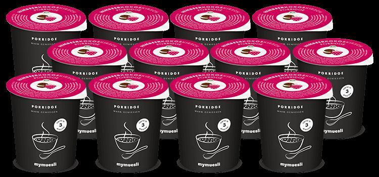 Unser leckerer Bio-Porridge mit Sauerkirchen und Himbeeren – auch für unterwegs