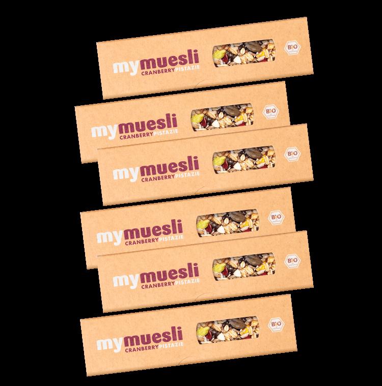 Cranberry Pistazie Muesliriegel 6er Pack