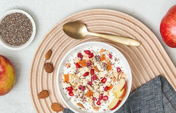 40 Prozent Protein Muesli mit Fruechten