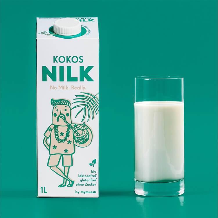 Tropische Kokos Nilk – vegan, laktosefrei und ohne Zuckerzusätze