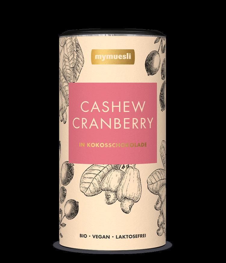 Unsere Chocs Sorte Cashew Cranberry