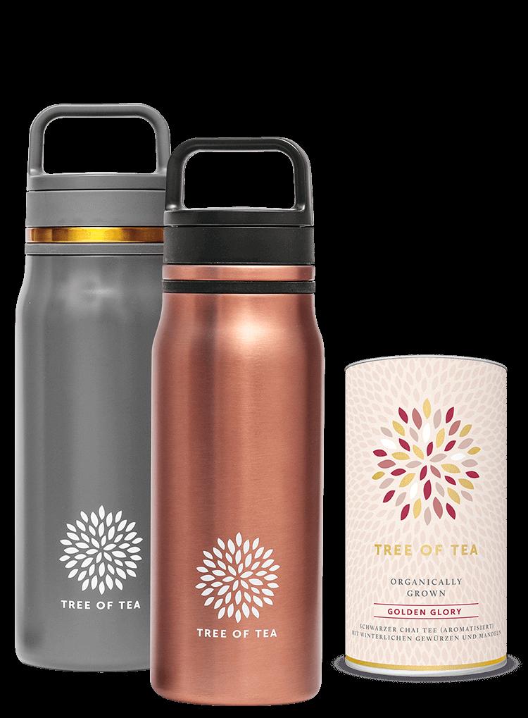 Roségold oder Mattgrau: Unsere Thermo Bottle 2go