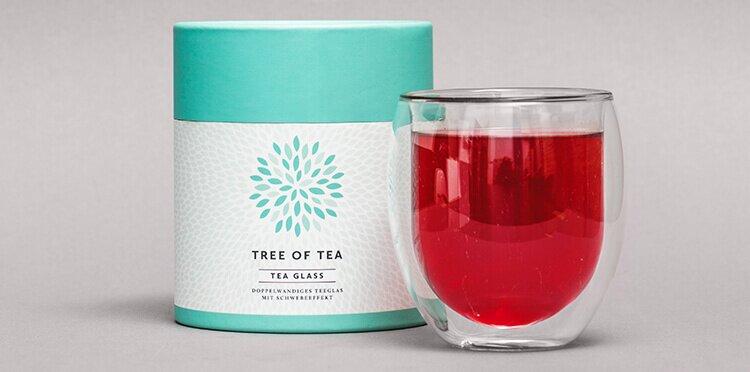 Tree of Tea Teeglas in schöner Verpackung