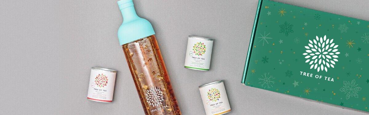 Eistee Probierset in 4 tollen Farben in einer schönen Weihnachtsbox