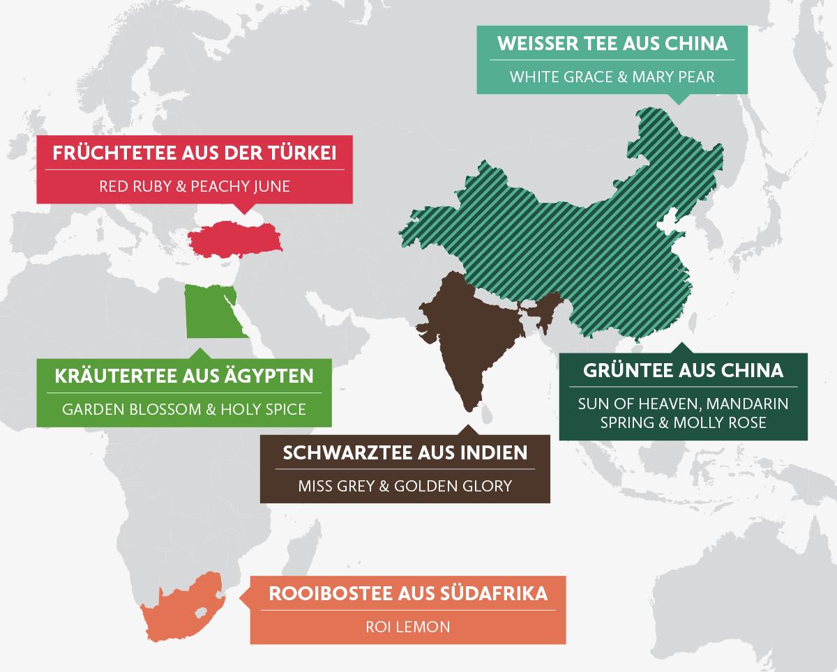 Die Herkunft unserer Tees