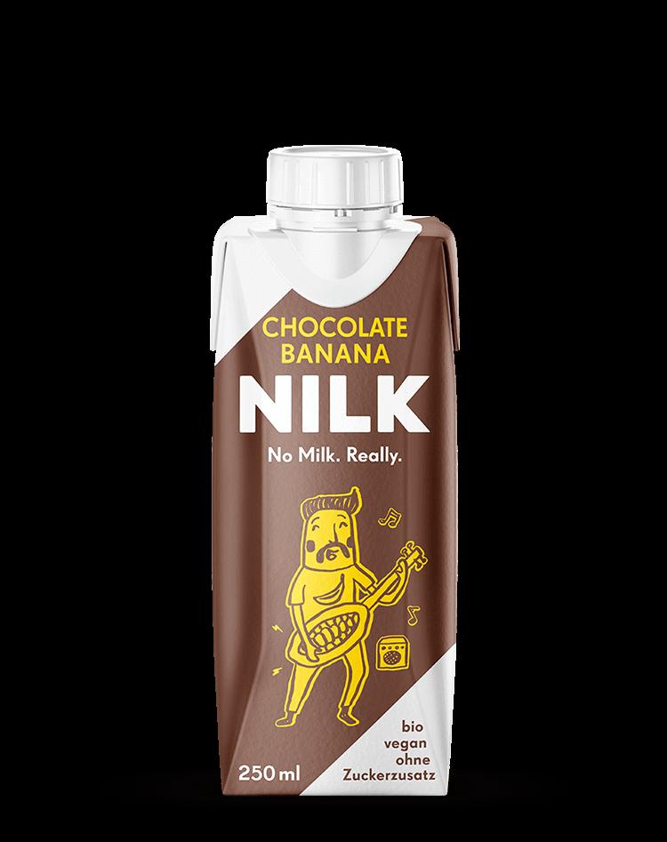 Bio, pflanzlich und ohne Zuckerzusatz: Unsere Nilk2go Chocolate Banana