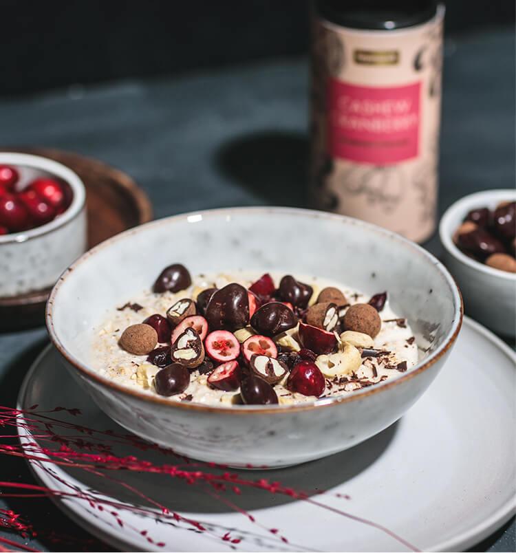 Ideal sind Chocs als Topping für Dein Frühstück