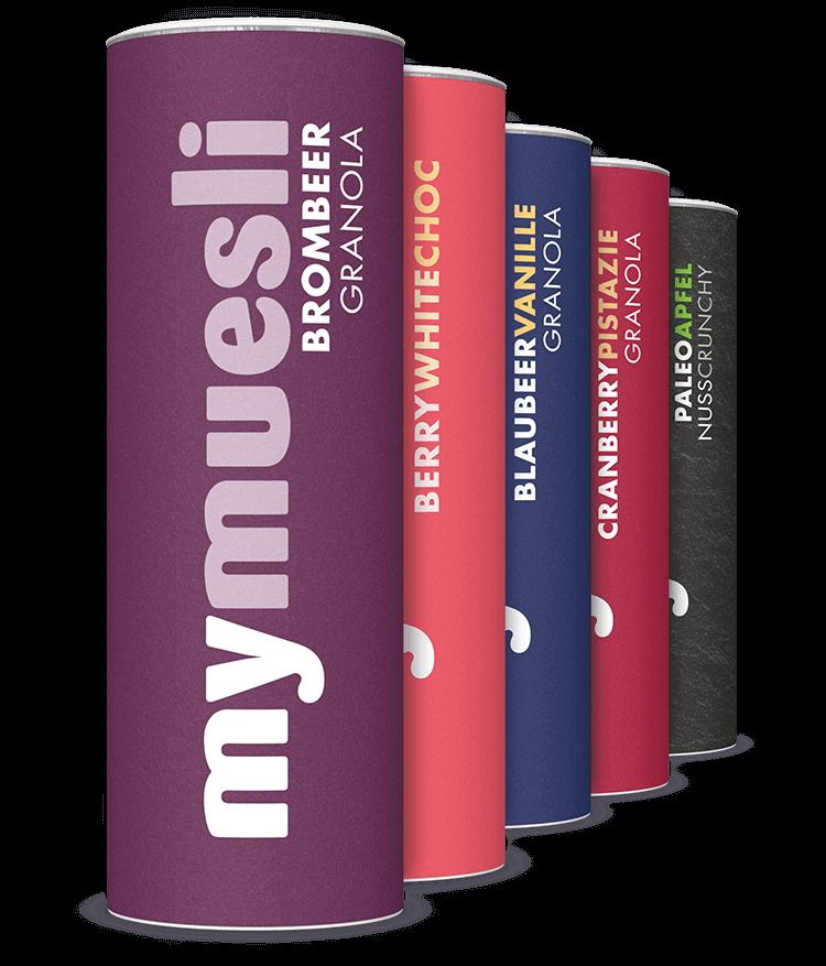Unser Topseller Paket. Mit den 5 beliebtesten Müslis unserer Müslifreunde.