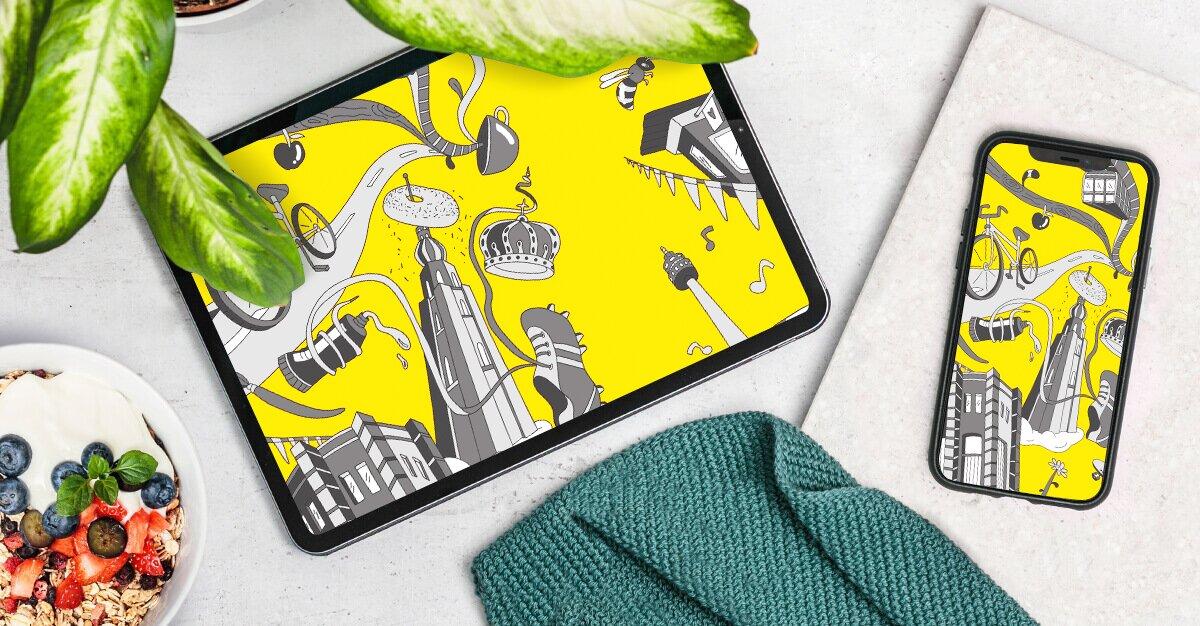 Dortmund Muesli Design Wallpaper