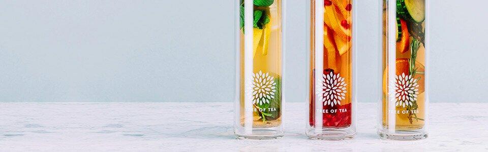 Bio-Blatt-Tee in der praktischen 2go Bottle.