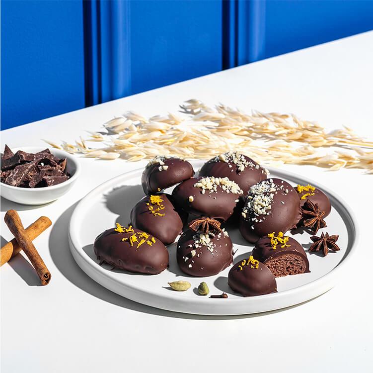Leckere Lebkuchen mit Zartbitterschokolade