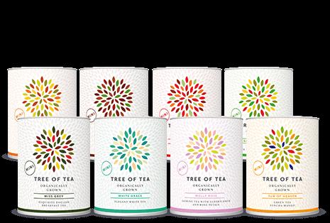Bio-Tee von Hand verarbeitet.