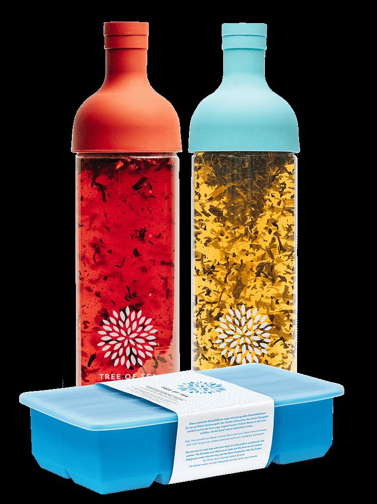 Die Eiswürfelform für extra eisgekühlten Eistee