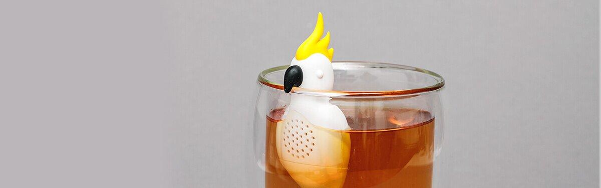 Tee einfach zubereiten mit dem Kakadu Teesieb
