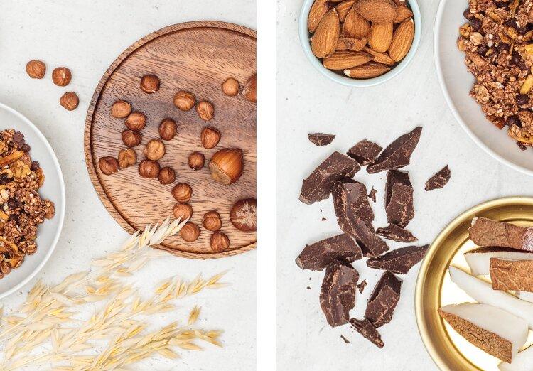 Chocolate Hazelnut Almonda Granola Zutaten