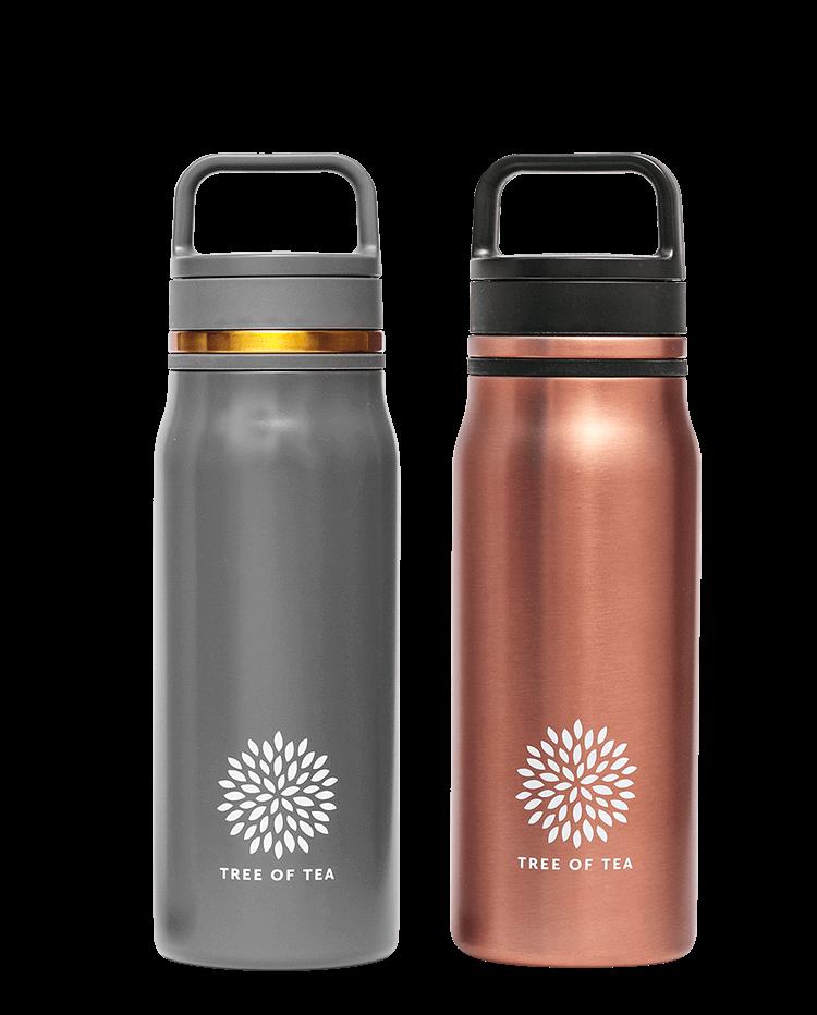 Mattgrau oder Roségold? Unsere Thermo Bottle 2go für besten Teegenuss unterwegs