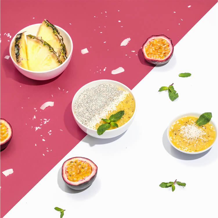 Tropischer Chia-Pudding