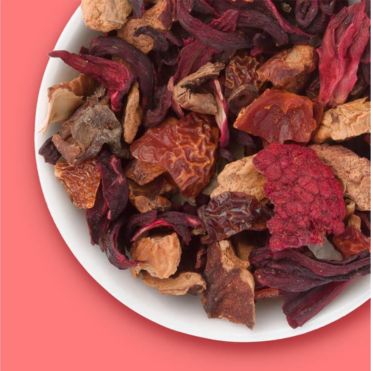 Red Ruby mit leckeren Früchten aus Wildpflückungen