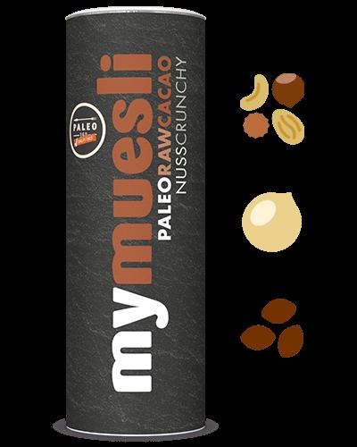 Paleo-Müsli mit Kakaopulver.