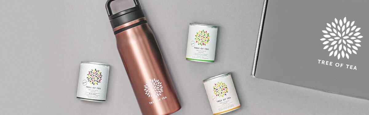 Das Thermo Bottle2go Set mit 3 leckeren Bio-Blatttees.