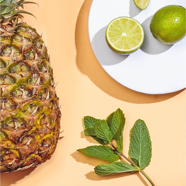 Sun of Heaven mit Ananas, Limette und Minze