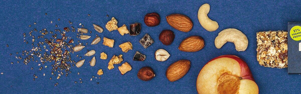 Knackige Nüsse und Samen mit Biss