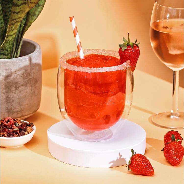 der fruchtige Erdbeer Frosé mit dem Red Ruby