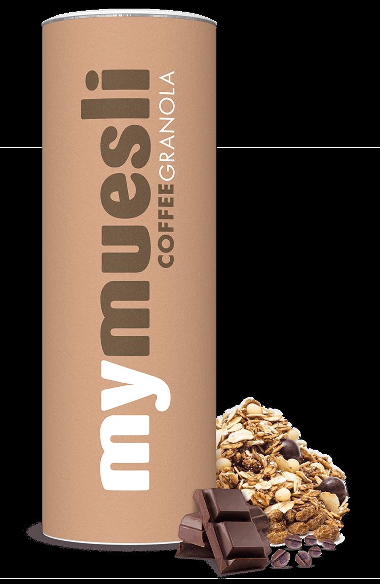 Bio-Granola mit Espressobohnen, ohne Palmöl.