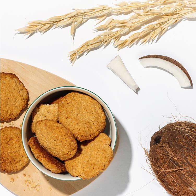 Kokos Kekse mit leckerer Kokos Nilk