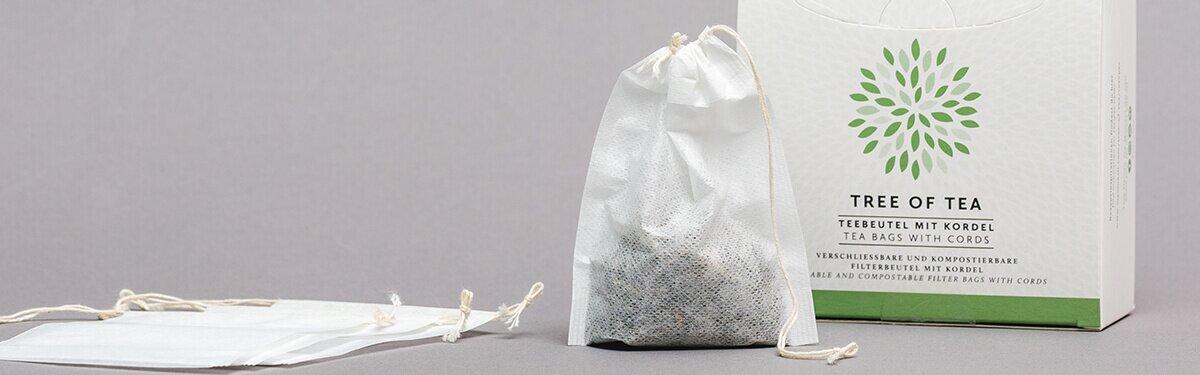 Praktische Teebeutel mit Kordel für optimalen Genuss von losem Blatttee