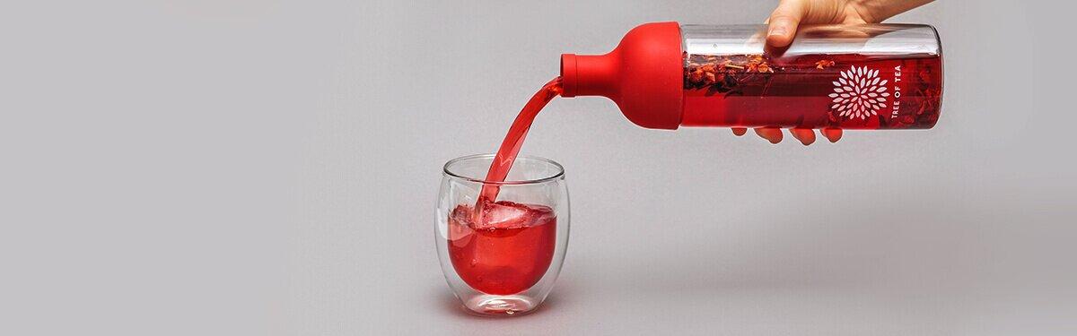 Eisteeflasche mit integriertem Sieb für besten Eisteegenuss