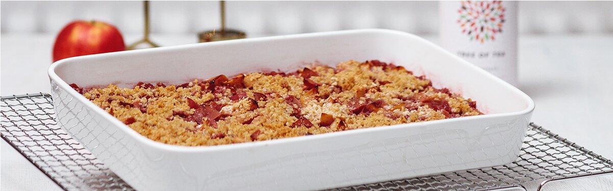 Veganer Apple-Crumble mit Früchtetee