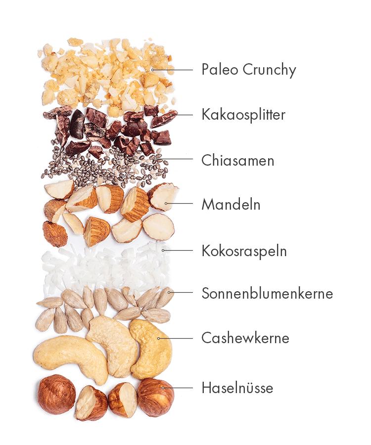 Unser Paleo-Raw-Cacao-Müsliriegel ist der perfekte Snack für Zwischendurch.