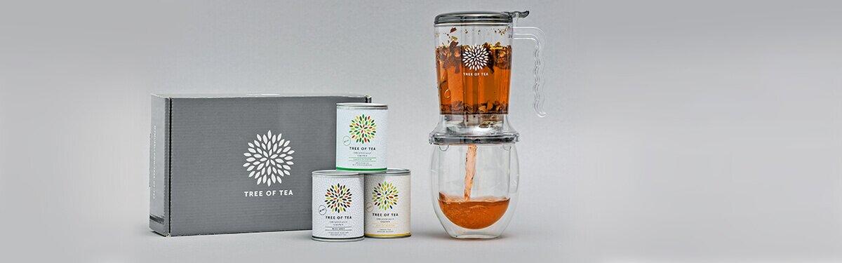 Unser Tea Maker im Set mit 3 leckeren Tee-Minis