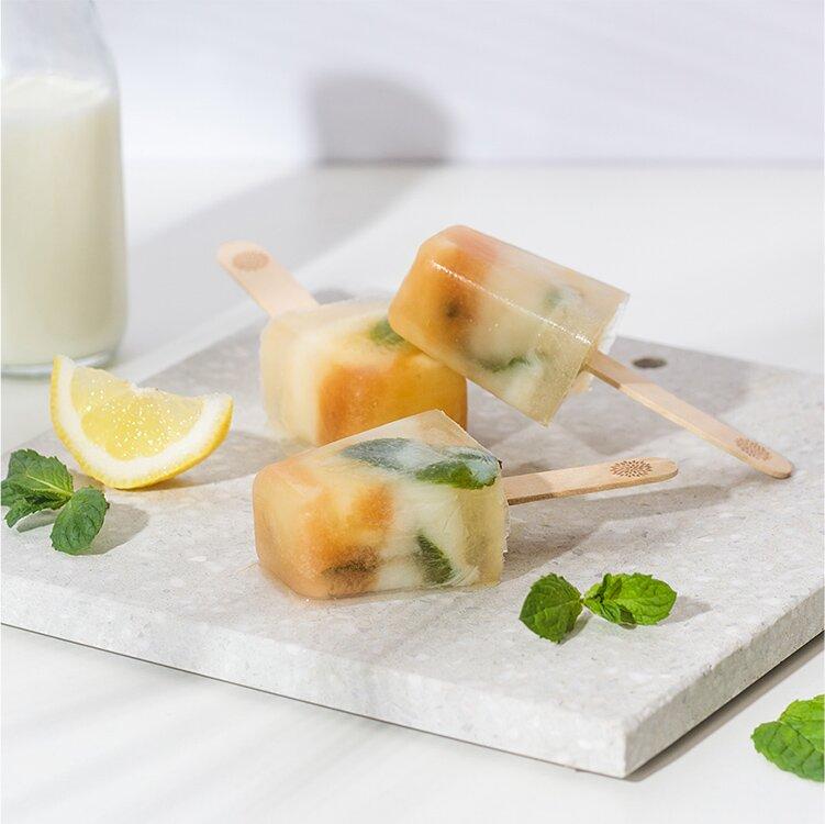 Zitronen Buttermilch Eis