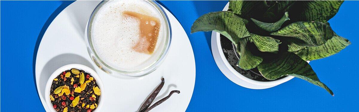 Iced Chai Latte mit süßer Hafer Nilk