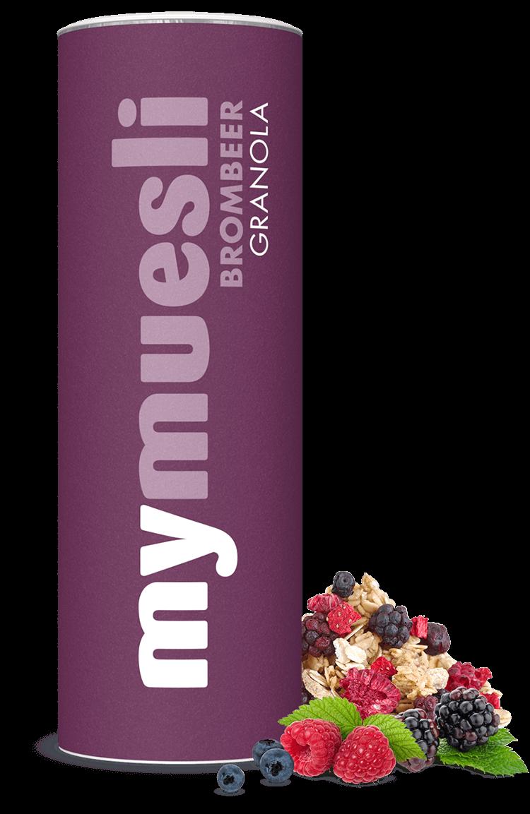 Granola-Müsli mit Chia-Samen und Brombeeren