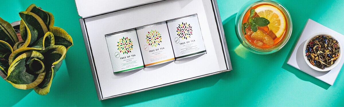 Unsere Tee-Minis in Probiergröße – verpackt in einer schicken Geschenobox!