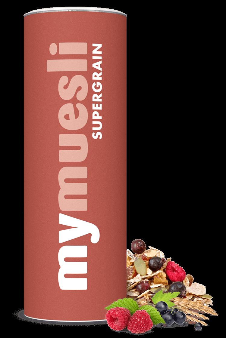 Supergrain-Müsli mit Amaranth, Dinkel, Quinoa, PurPur und Emmer.
